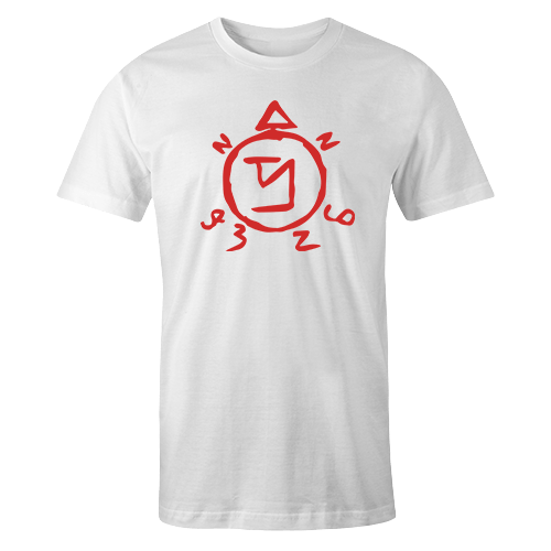 Angel Banishing Sigil White Cotton Shirt