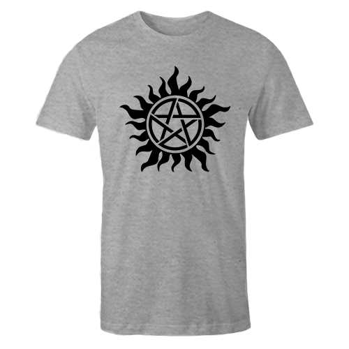 Anti Possession Tattoo Grey Cotton Shirt