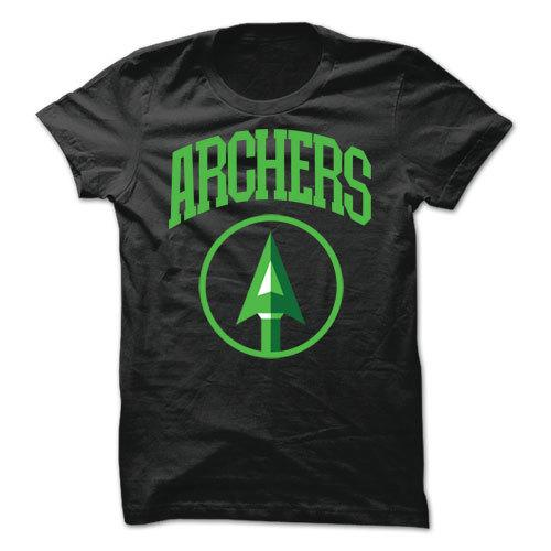 Archers Arrow Black Cotton Shirt