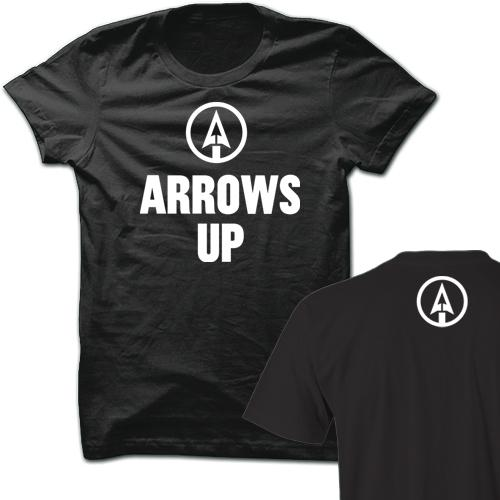 Arrows Up Black Cotton Shirt