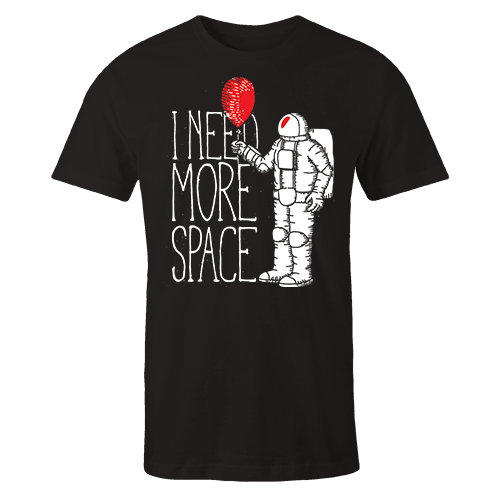 Astro Balloon Black Cotton Shirt