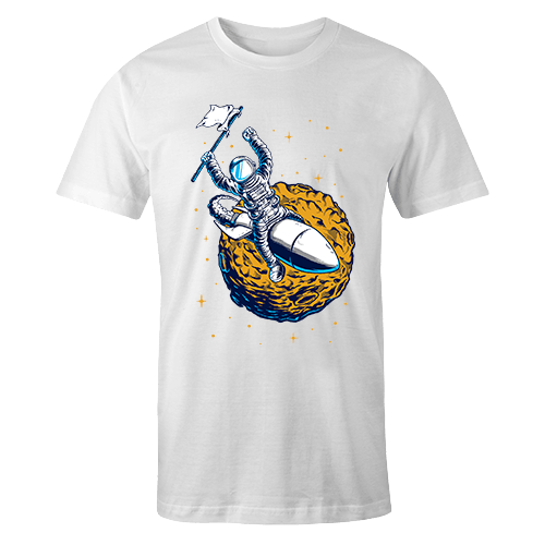 Astro Rocket Sublimation White Dryfit Shirt