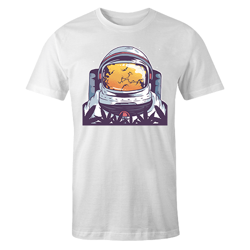 Astro Smoke Sublimation White Dryfit Shirt