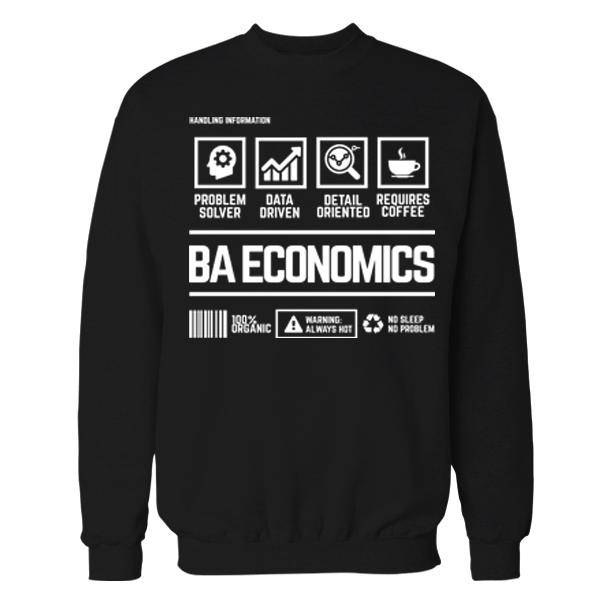 BA Economics Handling Black Cotton Shirt