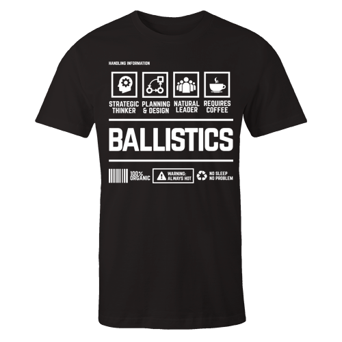 Ballistics Handling Black Cotton Shirt