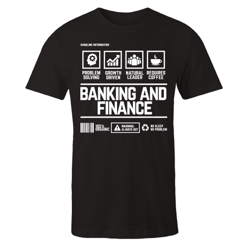 Banking And Finance Handling Black Cotton Shirt