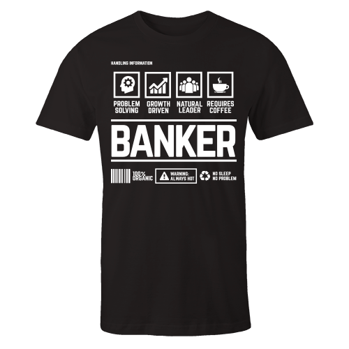 Banker Handling Black Cotton Shirt