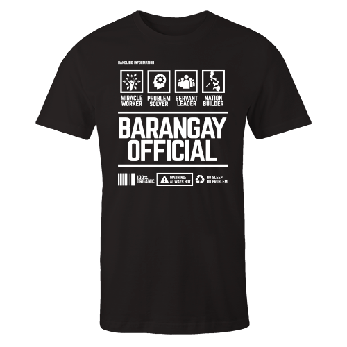 Barangay Official Handling Black Cotton Shirt
