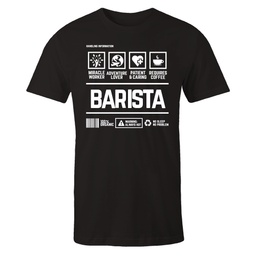 Barista Handling Black Cotton Shirt