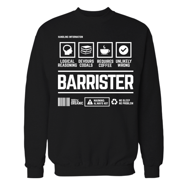 Barrister Handling Black Cotton Shirt