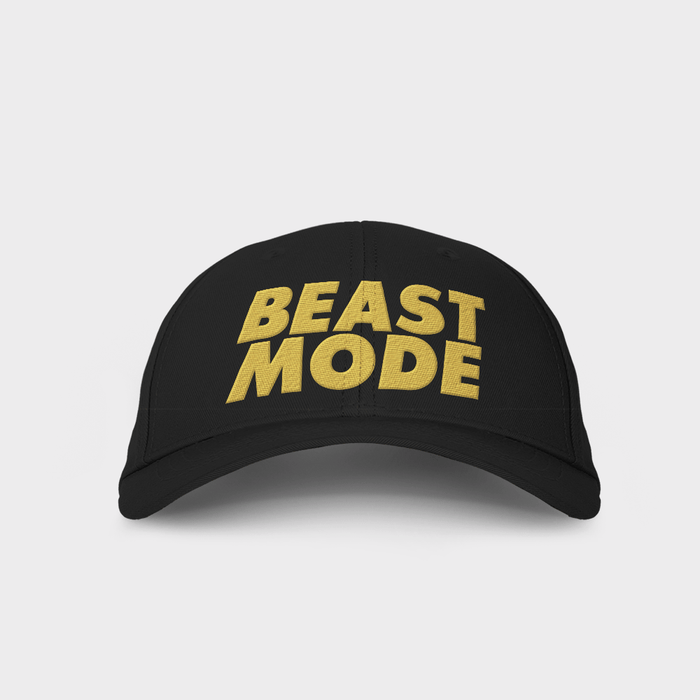 Beast Mode Black Embroidered Cap