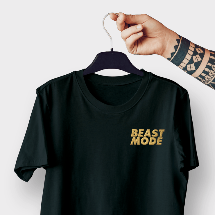 Beast Mode Black Embroidered Shirt