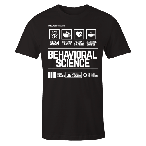 Behavioral Science Handling Black Cotton Shirt