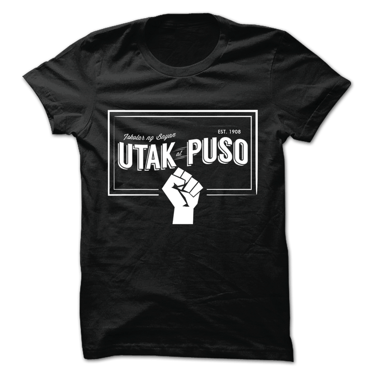 Utak at Puso v14 Black Cotton Shirt