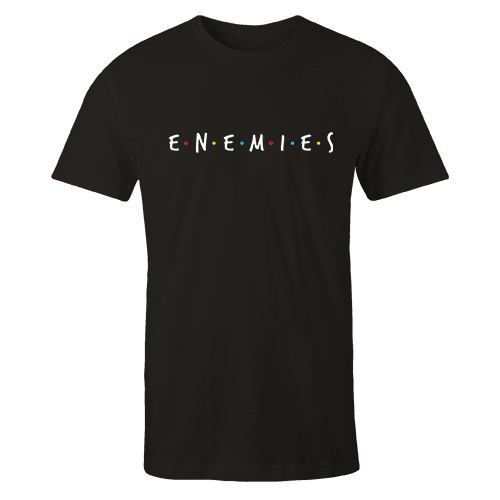 Enemies Embroidered Cotton Black Shirt
