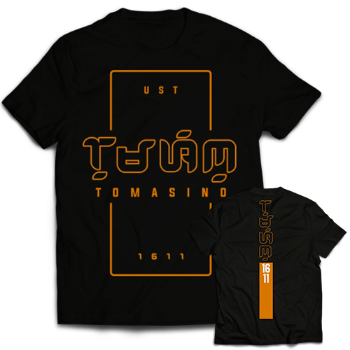Baybayin Tomasino Black Cotton Shirt
