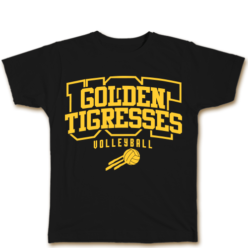 Golden Tigresses Black Cotton Shirt