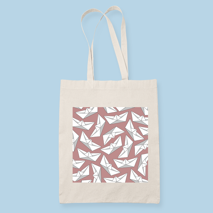 Boat Pink Sublimation Canvass Tote Bag