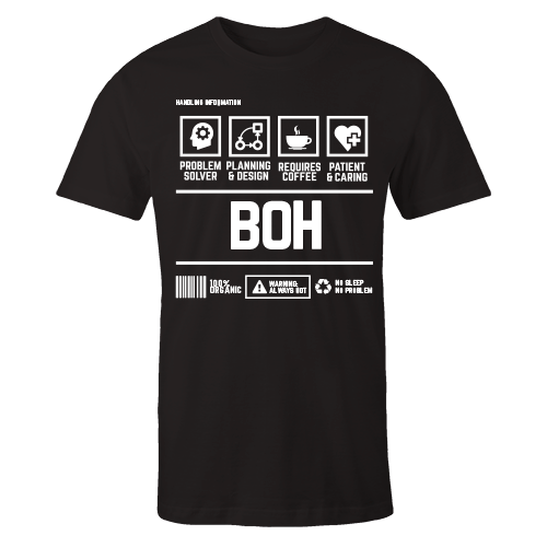 BOH Handling Black Cotton Shirt