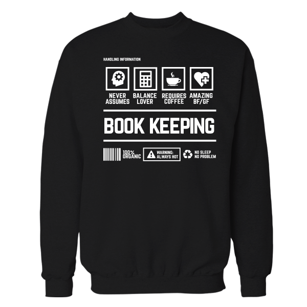 Book Keeping Handling Black Cotton Shirt