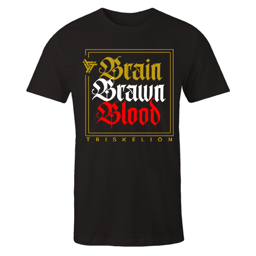 Brain Brawn Blood Black Cotton Shirt