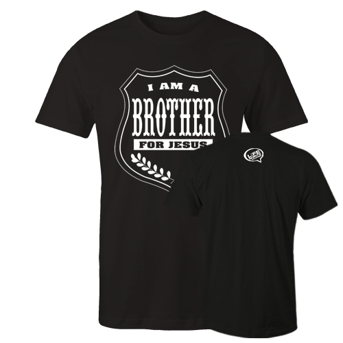 I am a brother Black Cotton Shirt