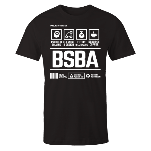 BSBA Handling Black Cotton Shirt