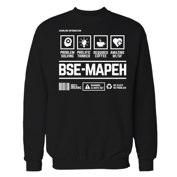 BSE Mapeh Handling Black Cotton Shirt