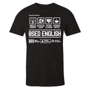 BSED English Handling Black Cotton Shirt