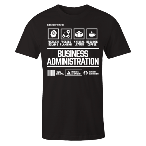 Business Ad Handling Black Cotton Shirt