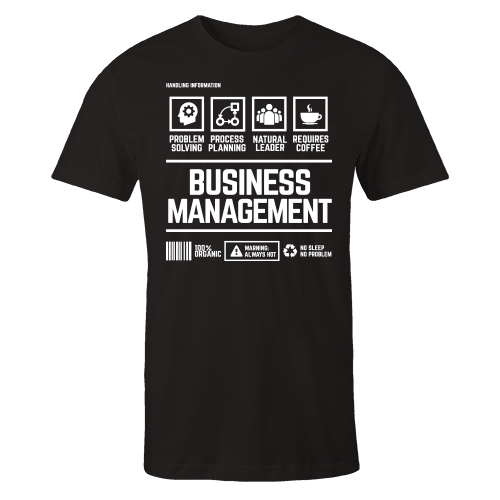 Business Management Handling Black Cotton Shirt