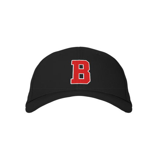 Letter B Black Embroidered Cap