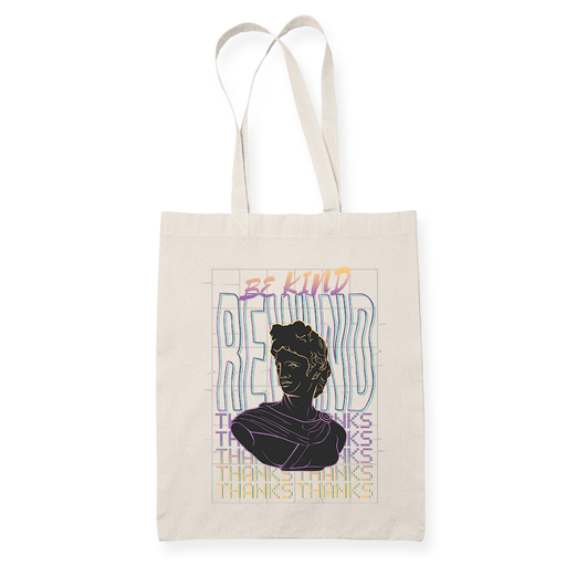 Be Kind Wave Sublimation Canvass Tote Bag