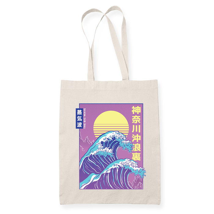 Big Wave Sublimation Canvass Tote Bag