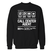 Call Center Agent Handling Black Shirt