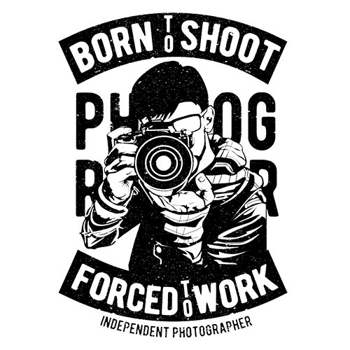 Camera Born To Shoot Sublimation Dryfit Shirt