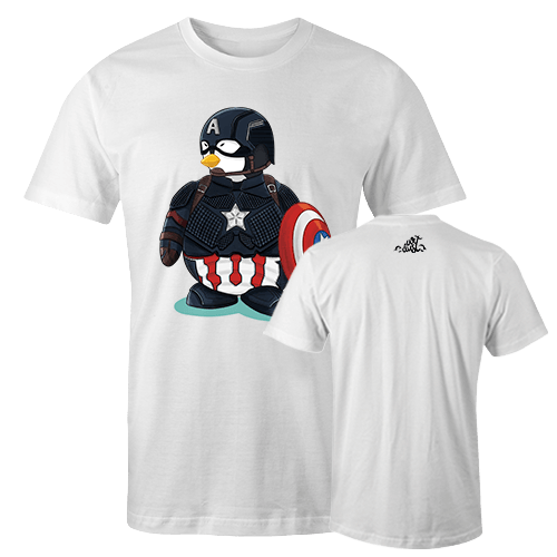 Penguin Comics Mashup v2 Sublimation Dryfit Shirt With Logo At The Back