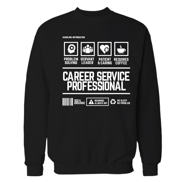 Career Service Professional Handling Black Shirt