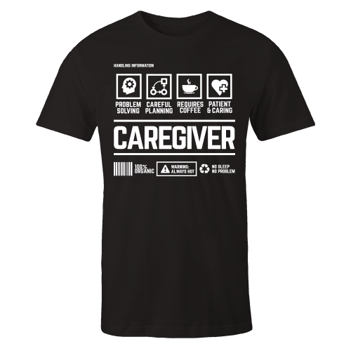 Caregiver Handling Black Shirt