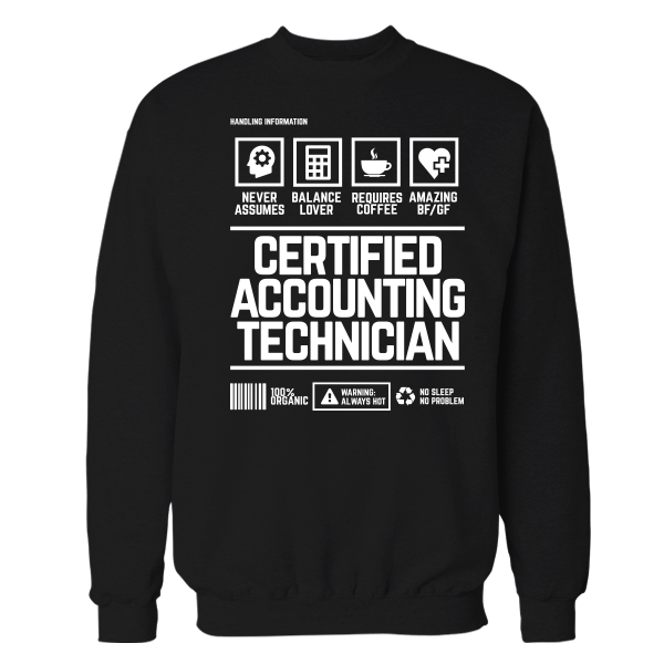 Certified Accounting Technician Handling Black Shirt
