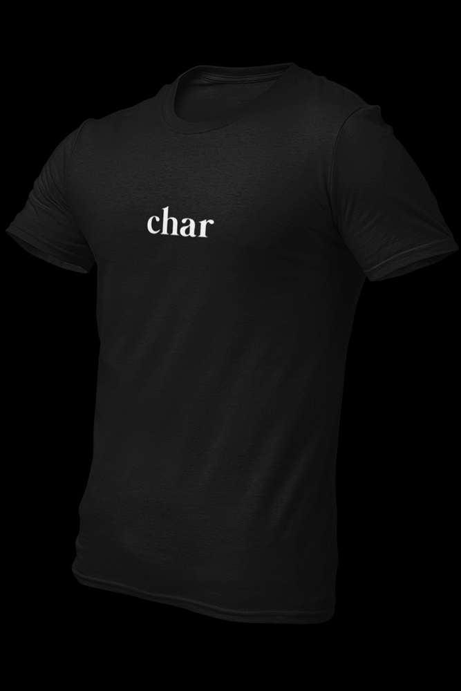 char Black Embroidered Cotton Shirt