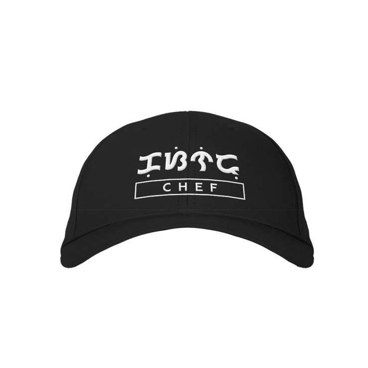 Chef Black Embroidered Cap