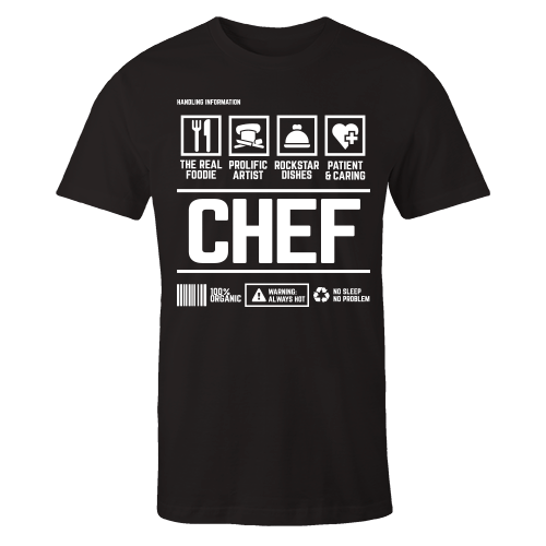 Chef Handling Black Shirt