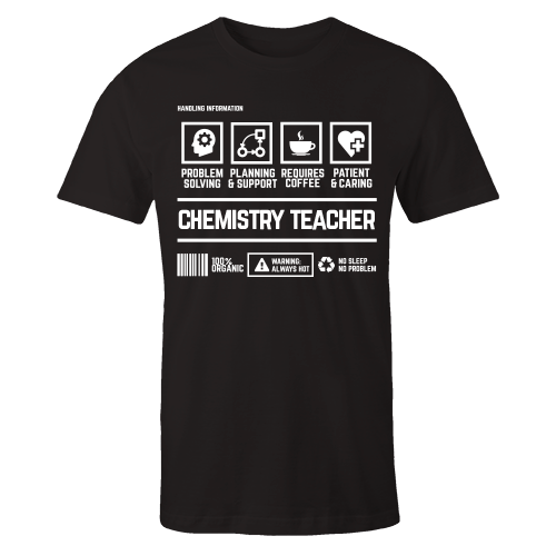 Chemistry Teacher Handling Black Cotton Shirt