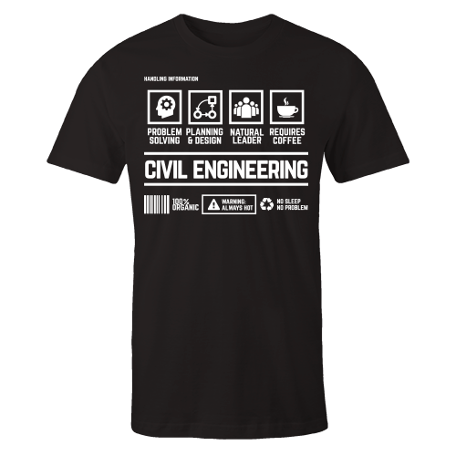 Civil Engineering Handling Black Shirt