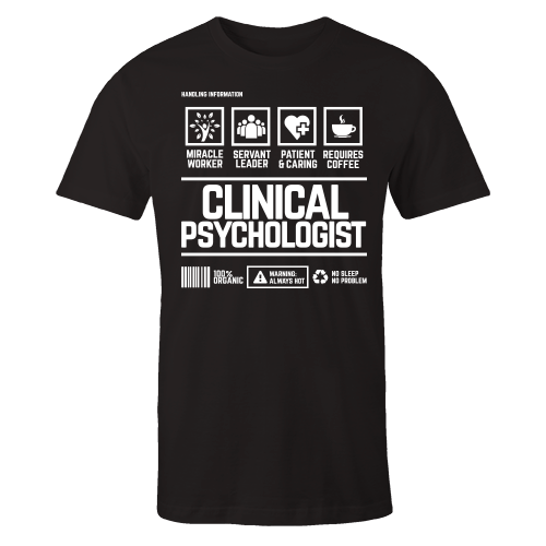 Clinical Psychologist Handling Black Shirt
