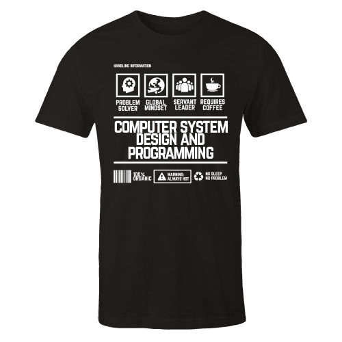 Computer System Design And Programming Handling Black Cotton Shirt Shirt Ly Marketplace