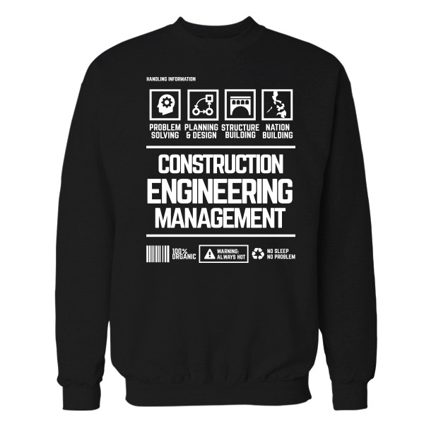 Construction Mgt Handling Black Shirt