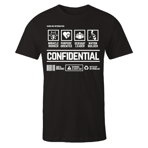 Confidential Handling Black Shirt