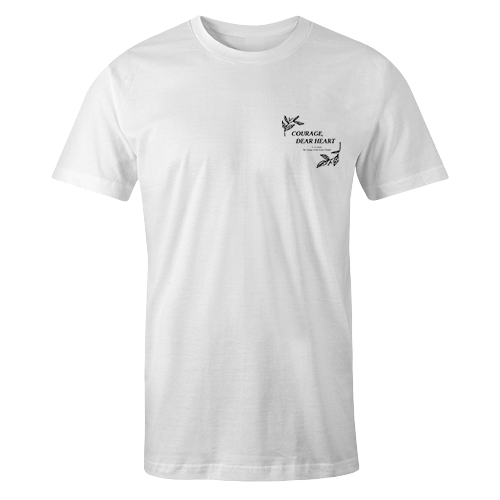 Courage dear Tsundoku White Cotton Shirt